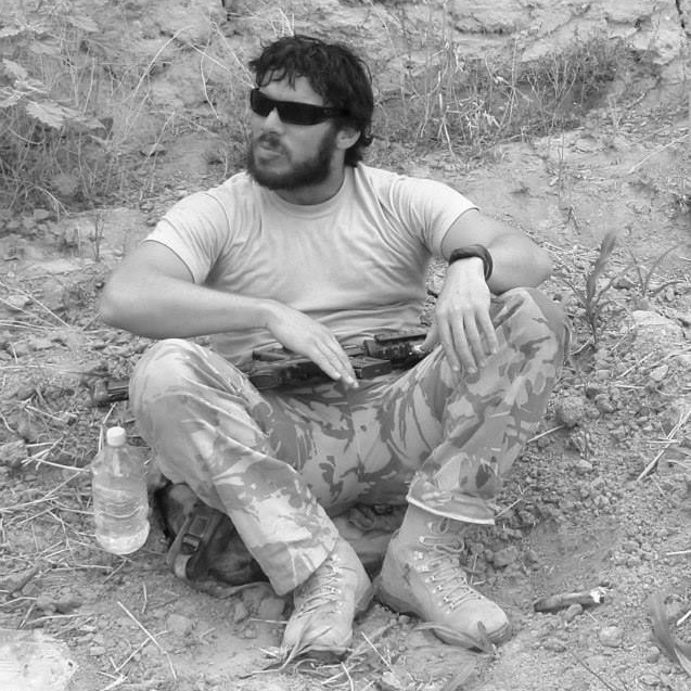Steve Cottam, photo while serving in Afghanistan